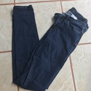 BANANA REPUBLIC DARK WASH HIGH RISE SKINNY JEANS
